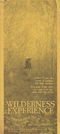 Wilderness Experience Trip catalog 1971