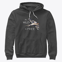 Wild and Free Bird hoodie adult.jpg