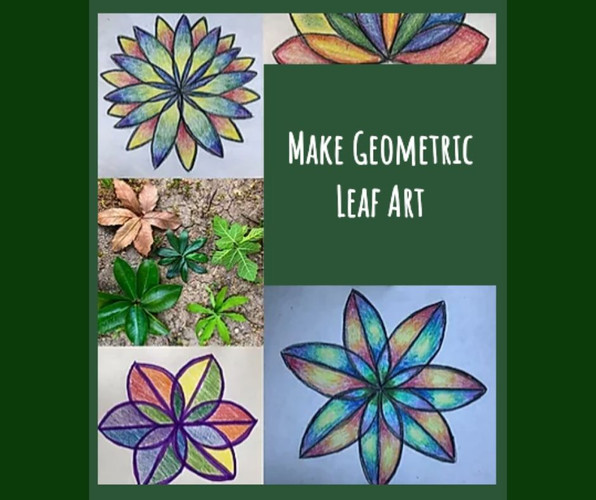 Geometric Leaf Art