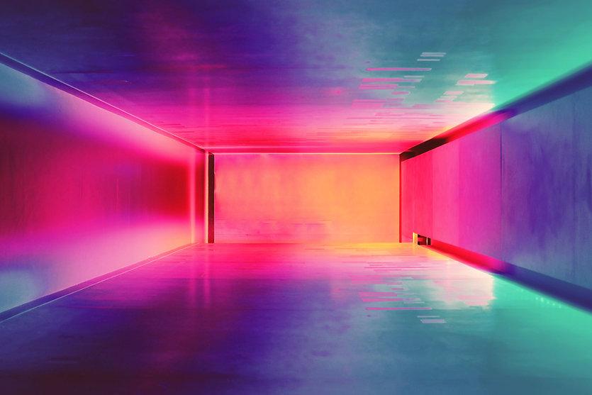 färgade Space