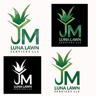 JM Luna Lawn Service Logos - Branding / Josue Dezign