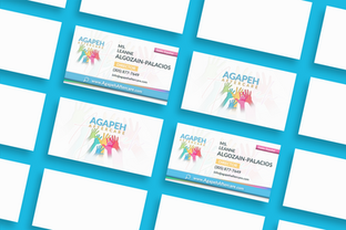 Agapeh Aftercare Business Card - By Josue Dezign