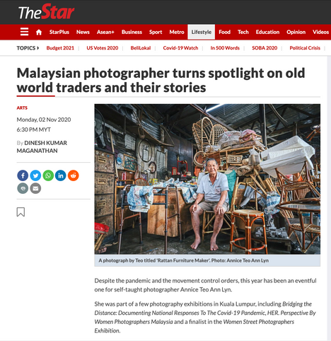 Malaysian photographer turns spotlight on old world traders and their stories