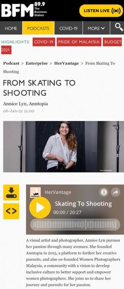 FROM SKATING TO SHOOTING