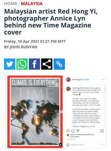 Malaysian artist Red Hong Yi, photographer Annice Lyn behind new Time Magazine cover