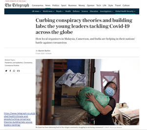 Curbing conspiracy theories and building labs: the young leaders tackling Covid-19 across the globe