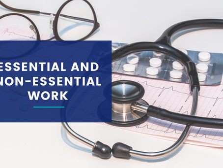 Essential and Non-Essential Work