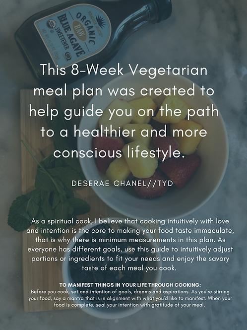 8-Week Vegetarian Meal Plan