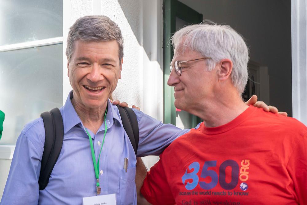 Above: Jeffrey Sachs and Jim Antal
