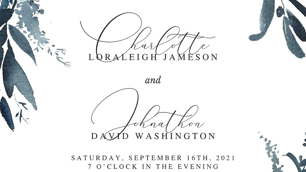 Sample Wedding Invites with matching RSVP