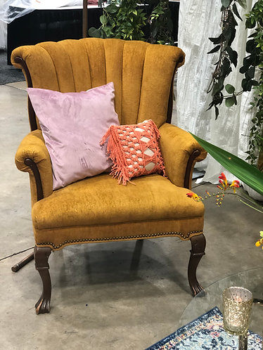 Antique Mustard Chair