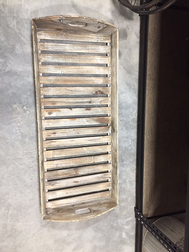 Lrg Wood slat Tray