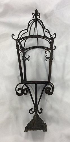 Pedestal Iron Scroll Lantern