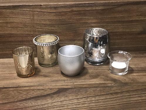 Silver Votive Cups