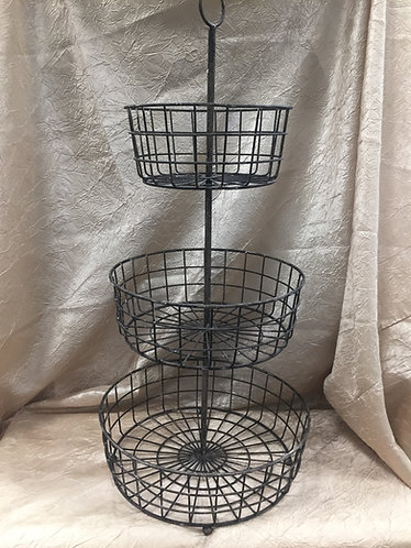 3 Tier Wire Basket Cupcake Stand