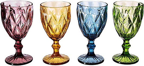 Amber Gold Water Goblet