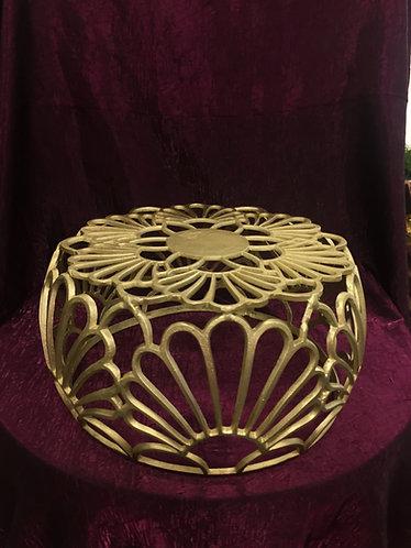 XLrg Gold Scroll Cake Stand