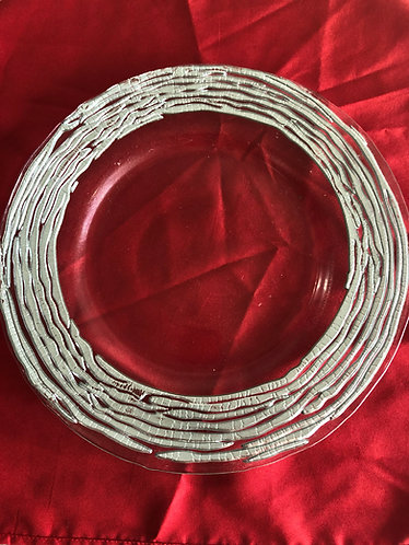 Silver Ripple Edge Glass Charger