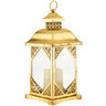 Metallic Gold Lantern w/ LED Candle