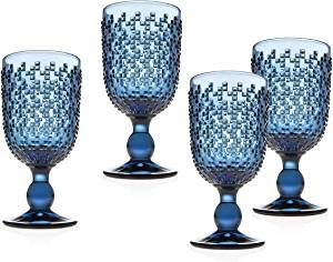 Blue Dot Water Goblet