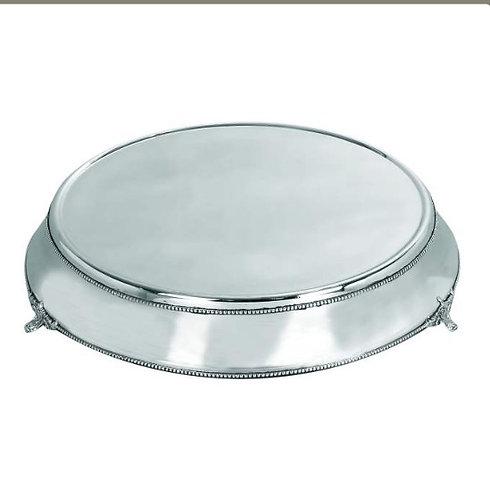 Silver Filigree Bottom Round Cake Stand