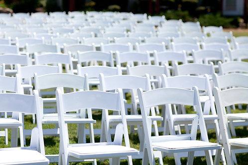 White Folding Garden Chairs