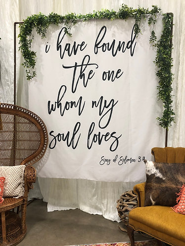 Fabric Solomon Banner W/ Hanger