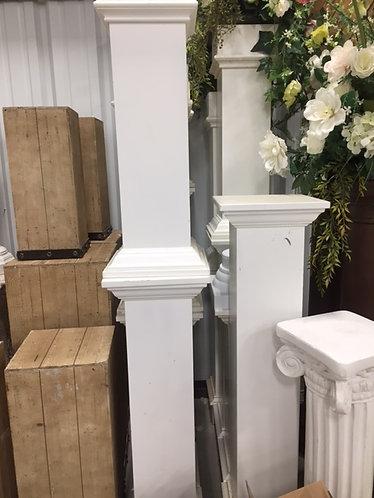 White Wooden Pedestals