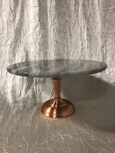 Copper Marble Cake Stand