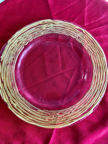 Gold Ripple Edge Glass Charger