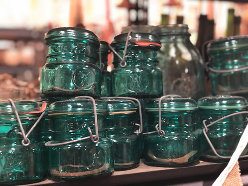 Mini Blue Jars