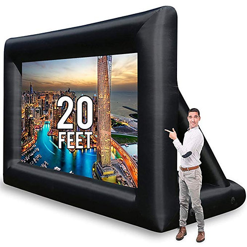 20ft Blow Up Screen w/ Projector