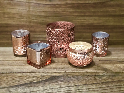 Copper Votive Cups