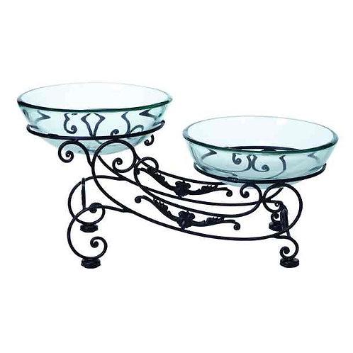 Double Glass Iron Bowl
