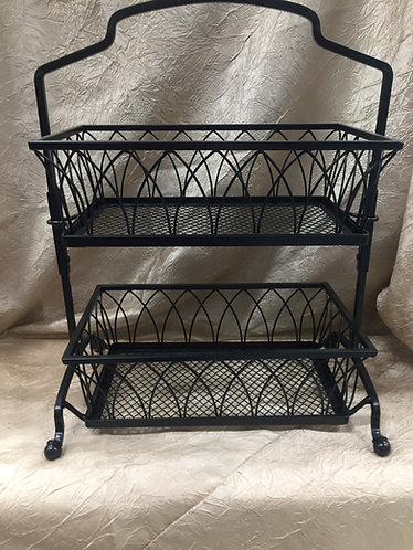 2 Tier Wire Basket Cupcake Stand