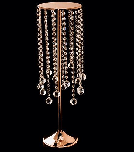 Gold Tabletop Lg Dangle Candle Holder