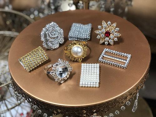 Square Diamond Center Napkin Ring