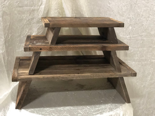 Wood Rectangle Cake Stands