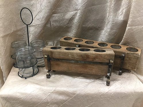 Rustic Utensil Holders