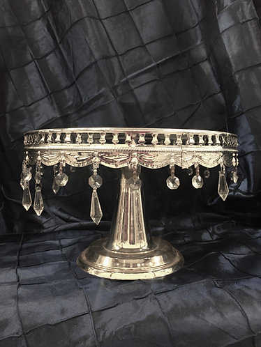 Silver Rhine Dangle Round Cake Stand