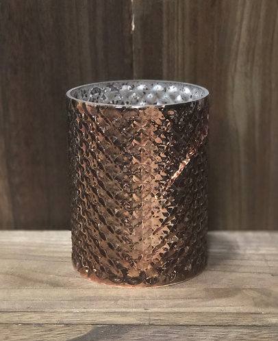 Copper Hammered Mercury Votive Cup