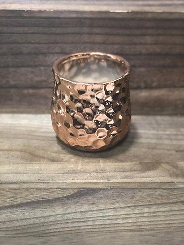 Copper Hammered Tealight Holder