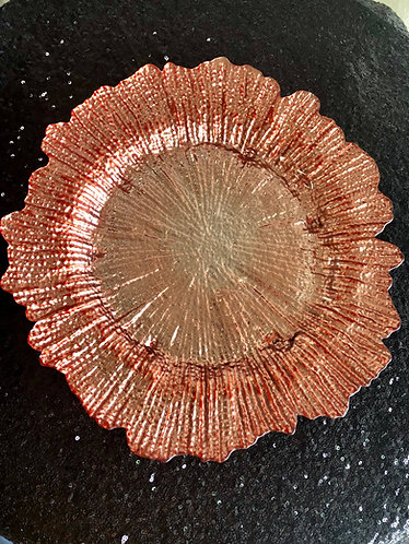 Blush Coral Reef Glass Charger