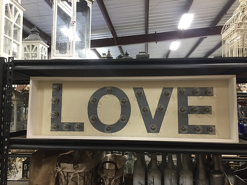 LOVE Bulb Light Up Sign