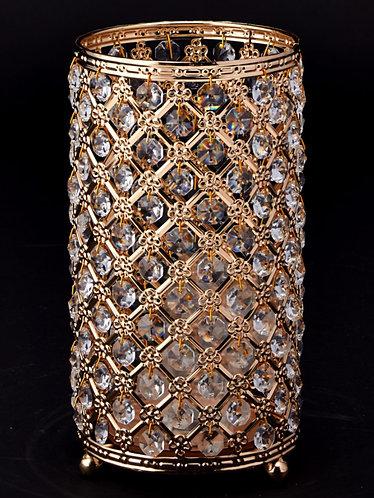 Gold Rhinestone Dangle Cylinder