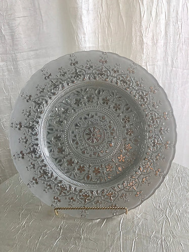 Silver Moroccan Glass Charger