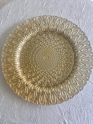 Gold Mosaic Glass Charger