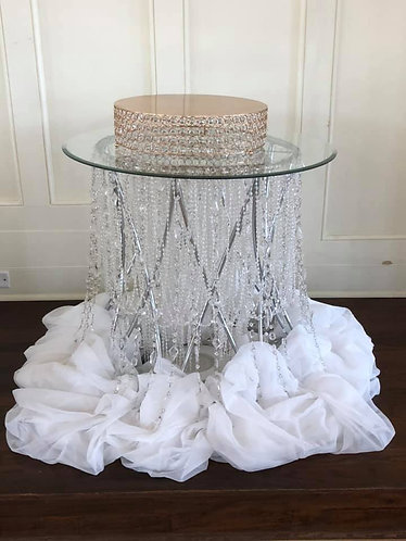Crystal Bead Cake Table