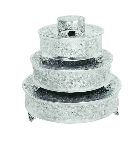 Silver Round Traditional Cake Stands