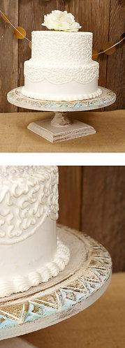 Gold/Ivory/Aqua Cake Stands